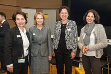 Simone Schönfeld, Geschäftsführerin Cross Consult, Petra Eck, Leiterin Personal ADAC, Dr. Nadja Tschirner, Geschäftsführerin Cross Consult, Eva Scheeser, Leiterin Personal ADAC (v.l.n.r.)