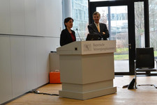 Dr. Nadja Tschirner und Daniel Just, Vorstandsvorsitzender der BVK.